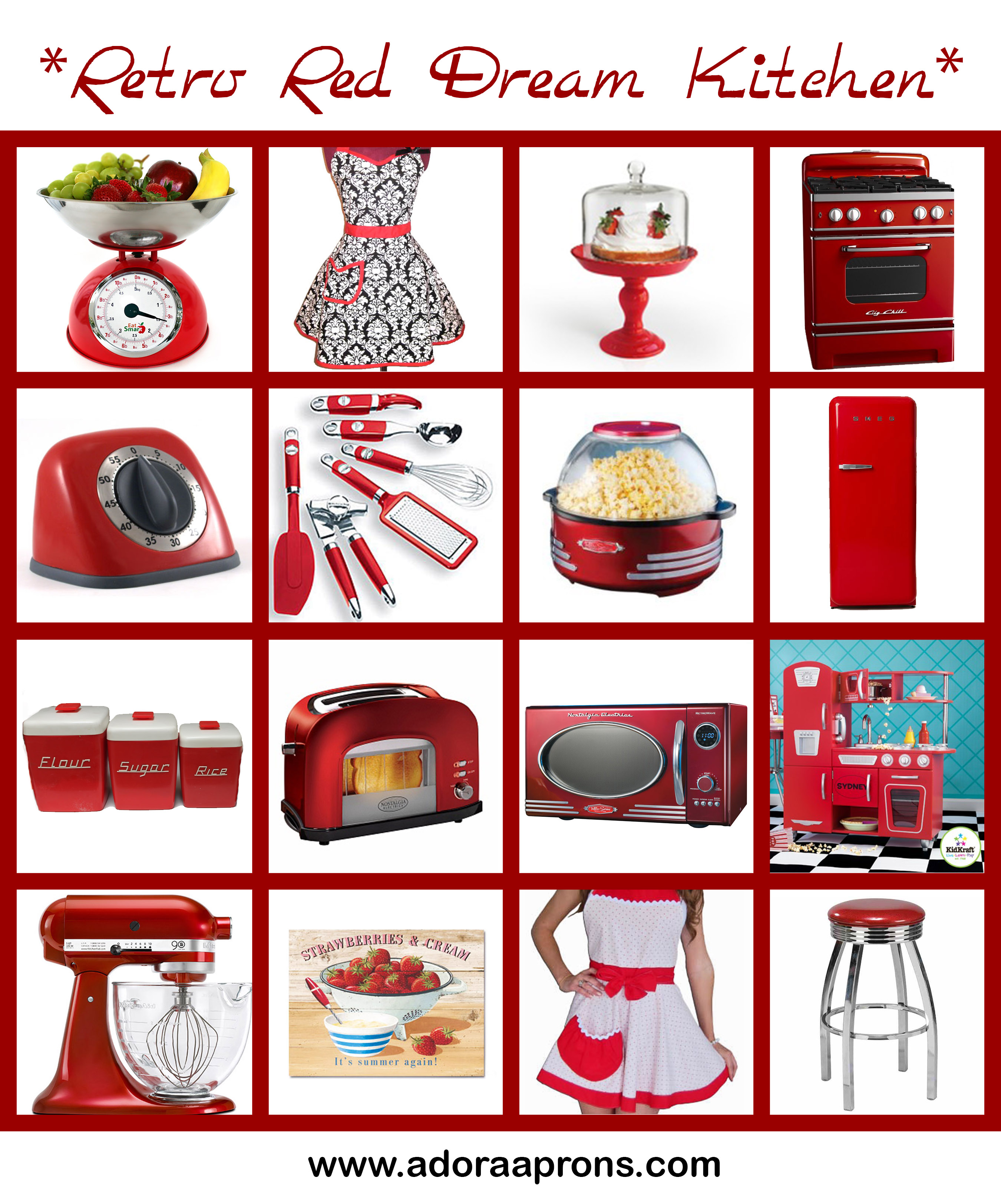 Red Kitchen Accessories | Delightful Decorations